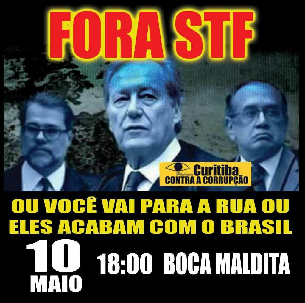 10 de maio Curitiba vai às ruas contra o STF