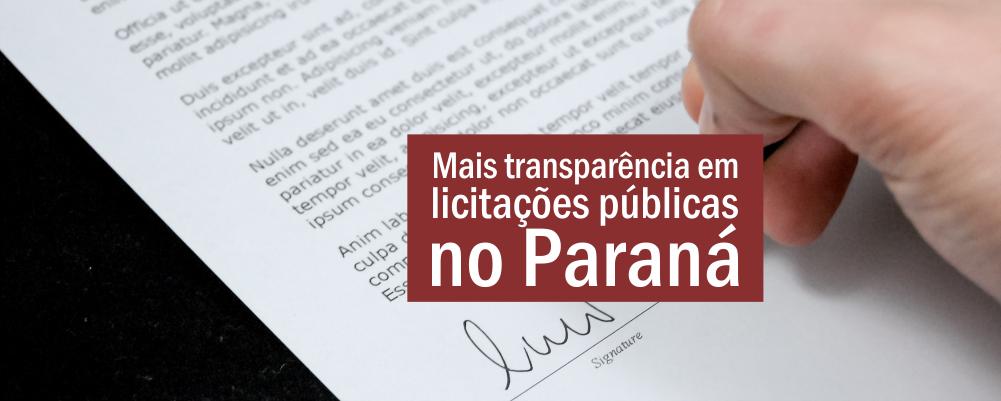 Mais transparência em licitações públicas no Paraná